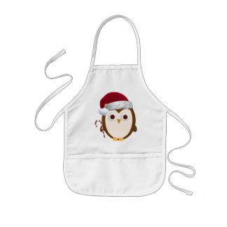 Christmas Owl Kids' Apron