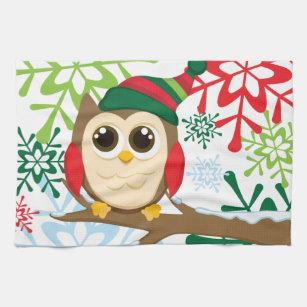 Christmas Owl Kitchen Towel