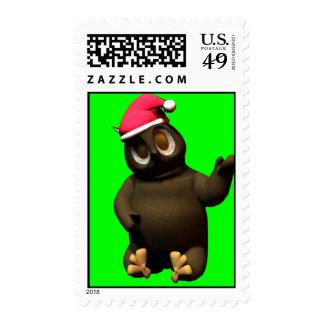 Christmas Owl loves da belly! Stamps