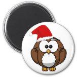 Christmas Owl Magnet