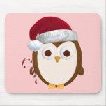 Christmas Owl Mouse Pads