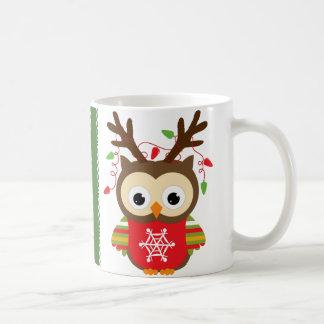 Christmas Owl Classic White Coffee Mug