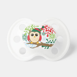 Christmas owl pacifier