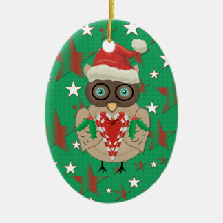 Christmas Owl Personalized Christmas Ornament