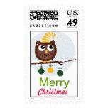 Christmas Owl Postage stamp