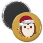Christmas Owl Refrigerator Magnet