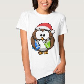 CHRISTMAS OWL SHIRT