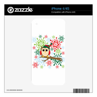 Christmas owl skin for the iPhone 4S