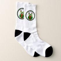 Christmas owl socks