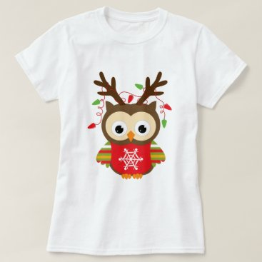 Christmas Themed Christmas Owl T-Shirt