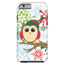 Christmas owl tough iPhone 6 case