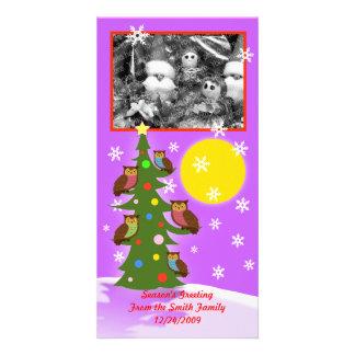 Christmas owl tree card