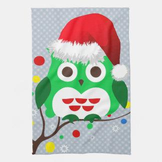 Christmas Owl Trend Hand Towel