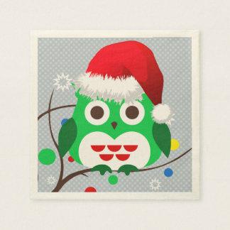 Christmas Owl Trend Paper Napkin