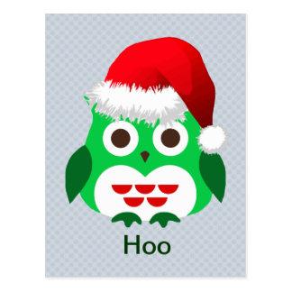 Christmas Owl Trend Postcard