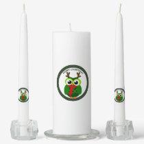 Christmas owl unity candle set