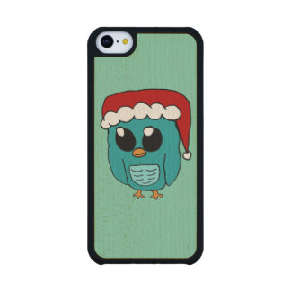 Christmas Owl Carved® Maple iPhone 5C Case