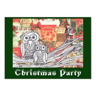 Christmas Owls 2 Christmas Invitations