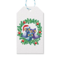 Christmas owls  decoration gift tags