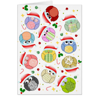 Christmas Owls Design Card
