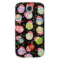 Christmas Owls Design Samsung S4 Case