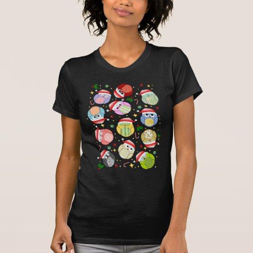 Christmas Owls Design Shirt