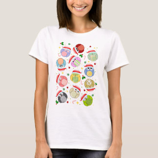 Christmas Owls Design T-Shirt