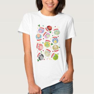 Christmas Owls Design T-shirts