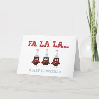 Christmas Owls Greeting Card
