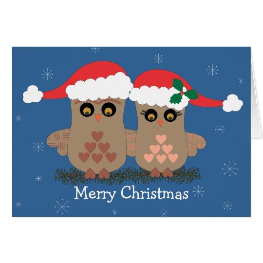 Christmas Owls Holiday Card