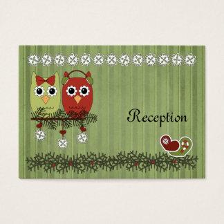 Christmas Owls Reception Cards