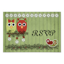 Christmas Owls RSVP Card