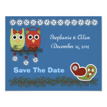 Christmas Owls Save The Date Cards