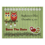 Christmas Owls Save The Date Cards Announcements