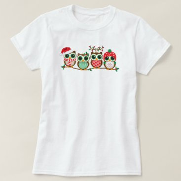 Christmas Themed Christmas Owls T-Shirt