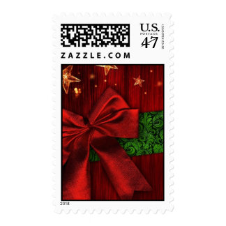 Christmas Package Postage Stamps