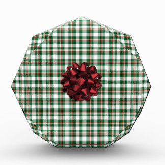 Christmas package red bow acrylic award