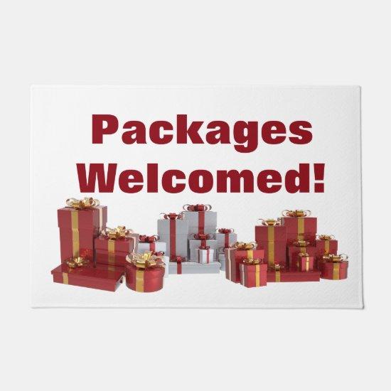 Christmas Packages Welcome Doormat