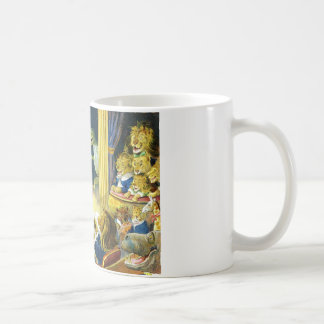 Christmas Pageant in Animal Land Mugs