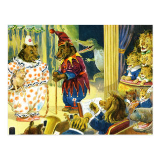 Christmas Pageant in Animal Land Postcard