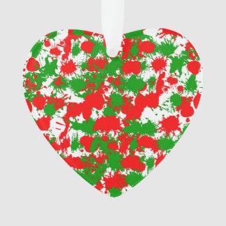 Christmas Paint Splatter Ornament