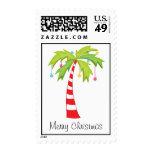 Christmas Palm Tree/Beach/Hawaii Postage Stamp