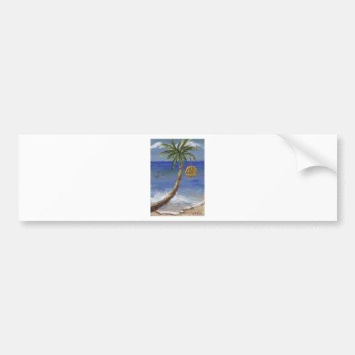 Christmas Palm Tree Bumper Stickers
