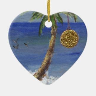 Christmas Palm Tree Ceramic Ornament
