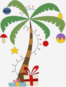 christmas palm tree shirt zazzlecom - Christmas Palm Tree Pictures
