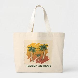 Christmas Palm Trees Grocery Tote Bag