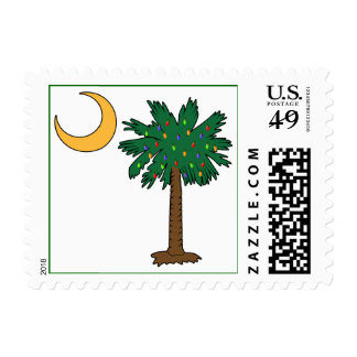 Christmas Palmetto Moon Postage Stamps
