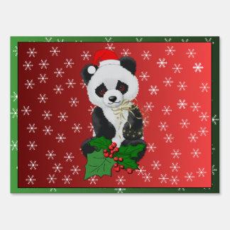 Christmas Panda Bear Lawn Sign
