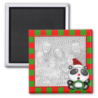 Christmas Panda Bear Photo Frame Style Magnet