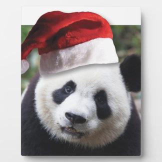 Christmas Panda Bear Plaque